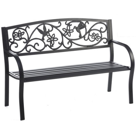 Plow & Hearth Hummingbird Metal Garden Bench