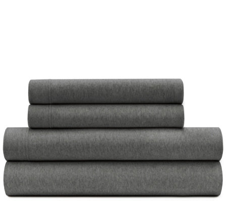 Briarwood Home Heathered Jersey 4 Piece Cal Kgsheet Set