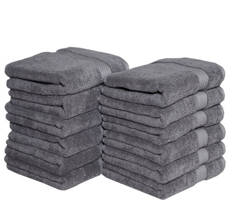 Casa Platino Combed Cotton Set of 12 Hand Towels