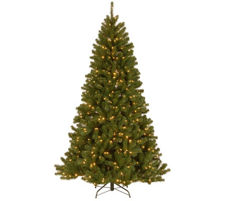 National Tree Company 7.5' North Valley SprucePrelit Tree