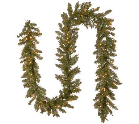 National Tree Company 9 Dunhill Fir Garland W Clear Lights