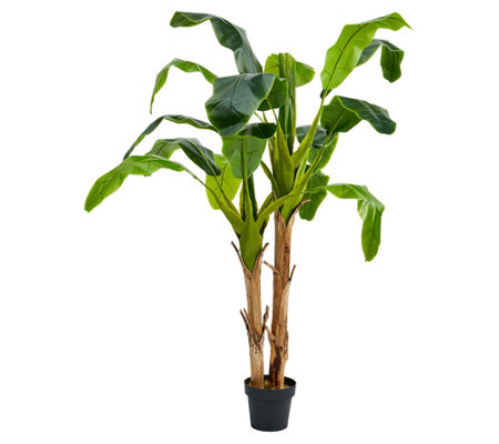 Pure Garden 72 Artificial Double Trunk Bananaleaf Tree