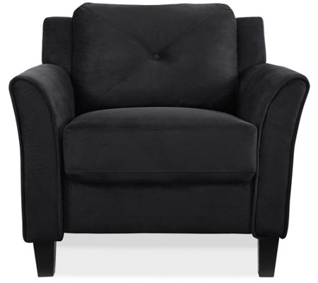 Lukaa Chair Upholstered Fabric Curved Arms