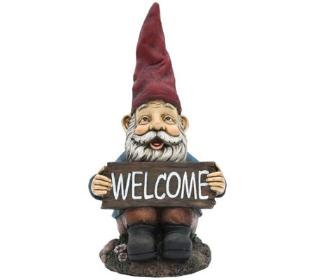 Welcome Resin Gnome By Santa S Workshop