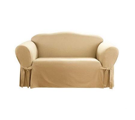 Sure Fit Organic Aspen Sofa Slipcover Qvc Com