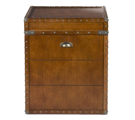 Home Reflections Steamer Trunk End Table