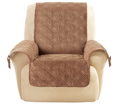 sure fit recliner cover Sure Fit Corduroy Recliner Furniture Cover   Page 1 — QVC.com sure fit recliner cover
