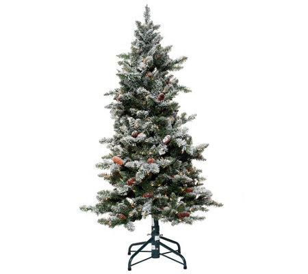 Bethlehem Lights 6.5' Woodland Pine Christmas Tree w/Instant Power ...