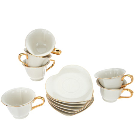 Yedi Inside Out Heart Set of 6 6.5oz Tea Cup & Saucer Set - Page 1 ...