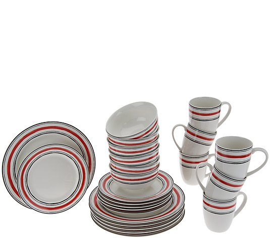 Lenox Illustrated Stripes 24-Pc Dinnerware Set Service for 6