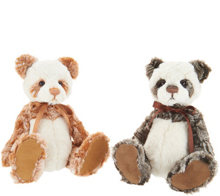 Charlie Bears Collectible Dick & Liddy Set of 2 Plush Bears