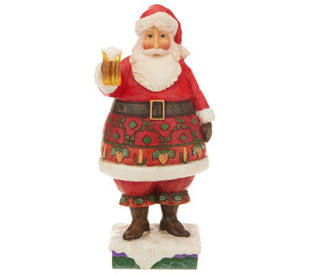 Jim Shore Heartwood Creek Craft Beer Santa Figurine