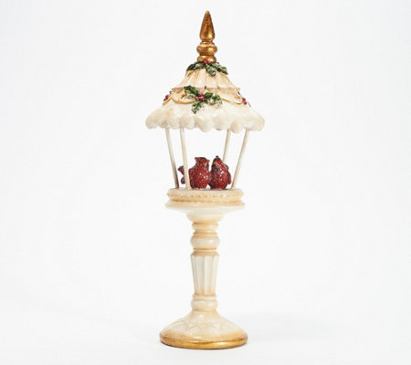 "16"" Gazebo Pedestal with Cardinals by Valerie"