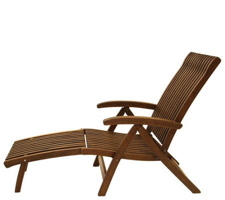Outdoor Interiors Eucalyptus Venetian Lounger