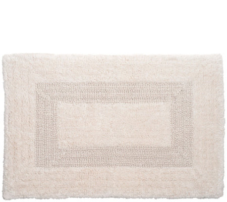 Lavish Home 100 Tufted Cotton Reversible Bathmat