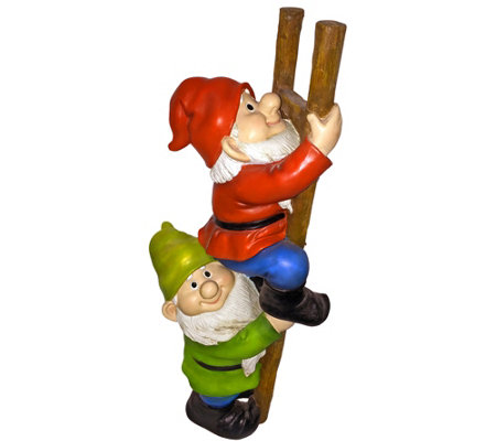 Design Toscano Up The Ladder Climbing Gnomes Statue