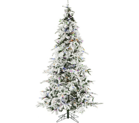 Christmas Time 7 5 White Pine Snowy Multi Prelit Musical Tree