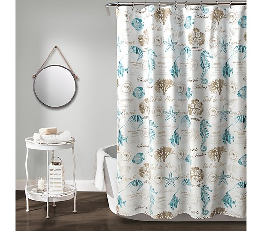 """13 Lush Spring Wedding Decorations To Bring To Life Your: Harbor Life 72"""" X 72"""" Shower Curtain By Lush Decor"""