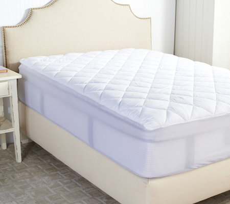 Serta Perfect Sleeper CalKing Mattress Pad with Nanotex Technology Page 1 — QVC