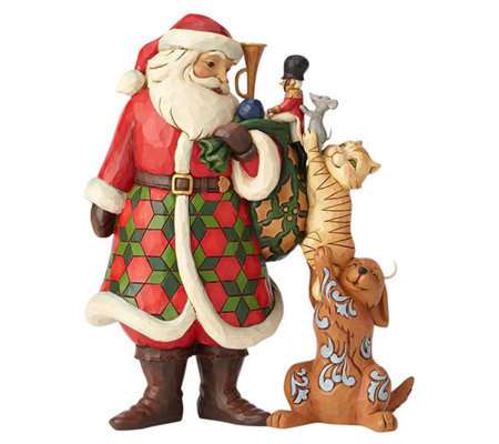 Jim Shore Heartwood Creek Santa with Stacked Animals