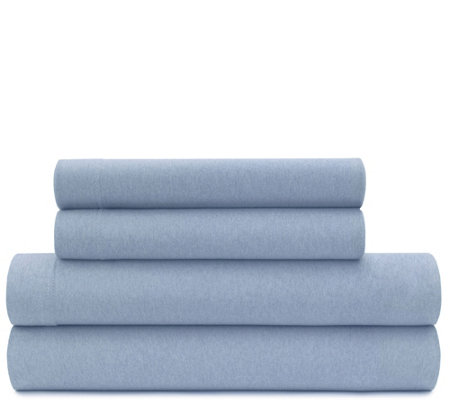 Briarwood Home Heathered Jersey 4-Piece Full Sheet Set