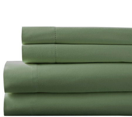 Elite Home Hemstitch 400TC 5-Piece Split KingSheet Set