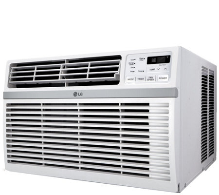 LG 12,000 BTU 115V Window-Mounted Air Conditioner with Remote