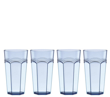 Lenox Set of 4 French Perle Blue HighBall Glasses