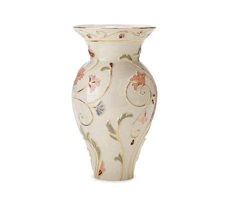 Lenox Gilded Garden Large Vase Qvc
