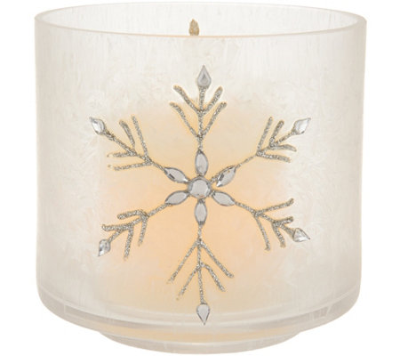 Candle Impressions Crystallized Flameless Small Vase