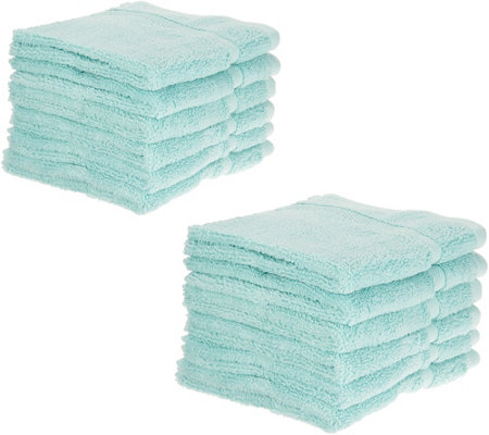 Home Reflections S/12 Cotton Performance Wash Cloth Set