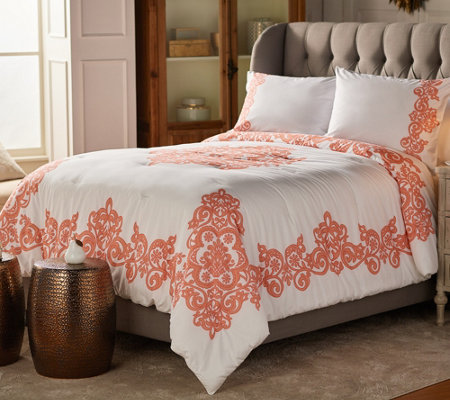 Casa Zeta-Jones Vintage Lace Printed Cotton Full Comforter Set