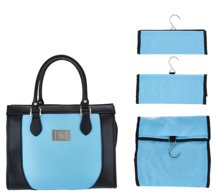 """As Is"" Set of 3 Travel Organizers with Tote by Lori Greiner"