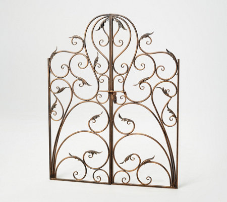 Indoor/Outdoor Decorative Metal Scroll Gate by Valerie — QVC com