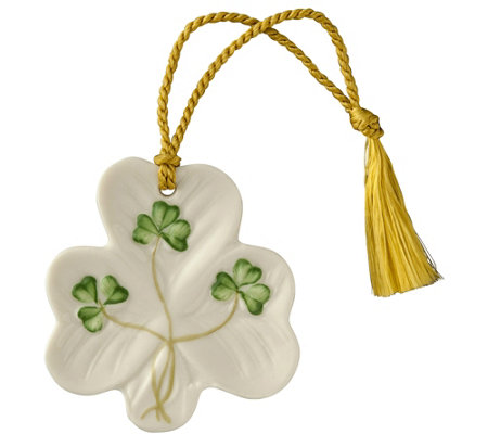 Belleek Shamrock Ornament