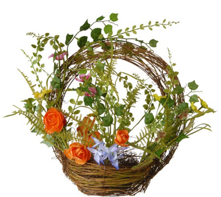 "National Tree Company 16"" Spring Ring Basket"