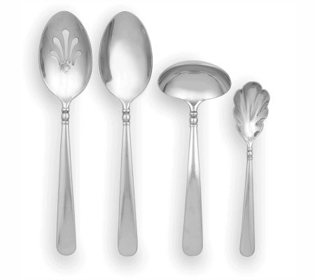 Lenox Pearl Platinum Finished Flatware 4-PieceHostess Set