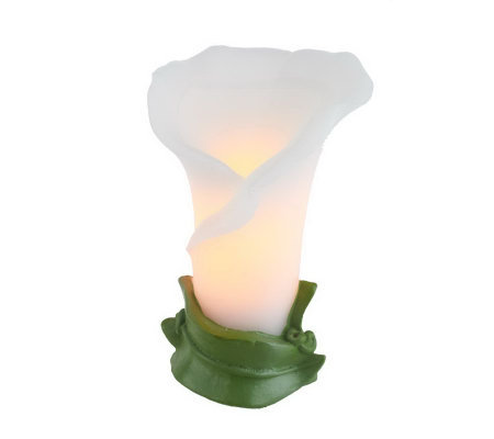 Home Reflections Calla Lily Flameless Candle w/ Timer
