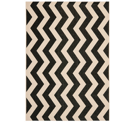 "Safavieh 5'3"" x 7'7"" Vertical Zigzag Indoor/Outdoor Rug"