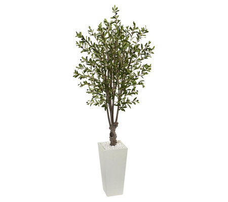 6' Olive Artificial Tree in Planter by Nearly Natural