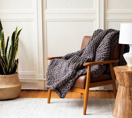 Berkshire Blanket Chunky Nautical Rope Knit Throw