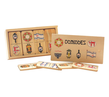 Copa Judaica Wood Jewish Dominoes