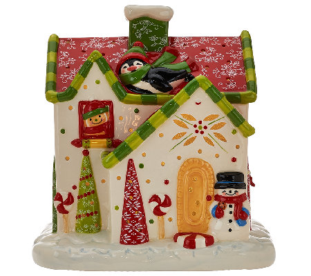 temp tations 8 illuminated ceramic gingerbread house