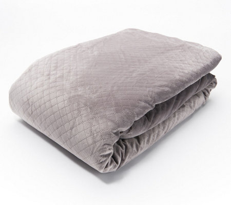 "BlanQuil 48"" x 74"" 20-lb Weighted Blanket with Removable Cover"