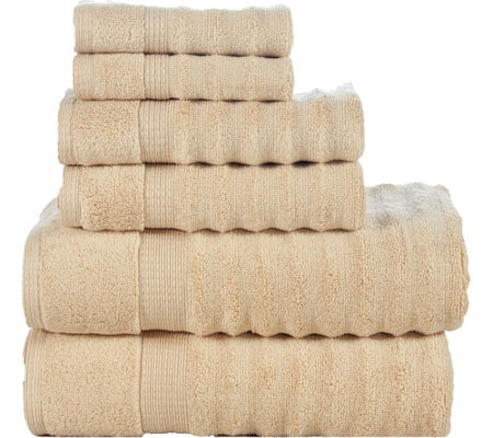 Elegance Spa 6-Piece Cotton Ribbed Towel Set