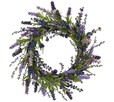 "20"" Lavender Wreath by Nearly Natural"