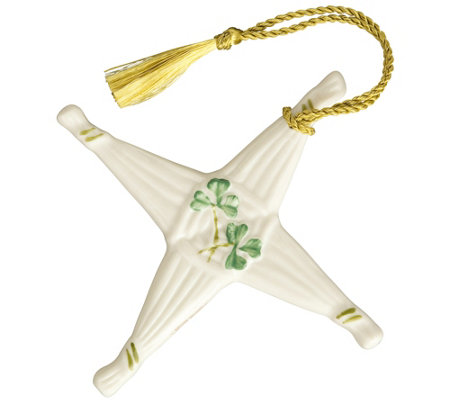 Belleek St. Brigid's Cross Ornament