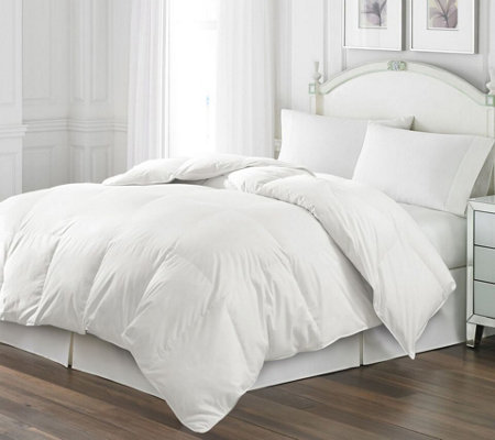 Royal Luxe White Goose Feather King Comforter