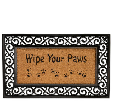 Wipe Your Paws Natural Coir And Rubber Doormat