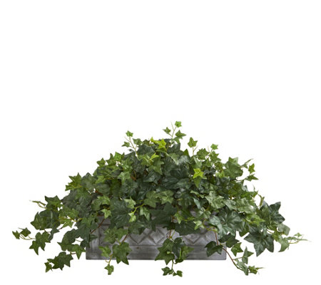 Puff Ivy Artificial Plant in Stone Planter by Nearly Natural